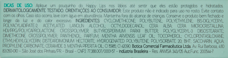The Beauty Box - Balm Brilho Labial Happy Lips - Gelinho de Menta_embalagem