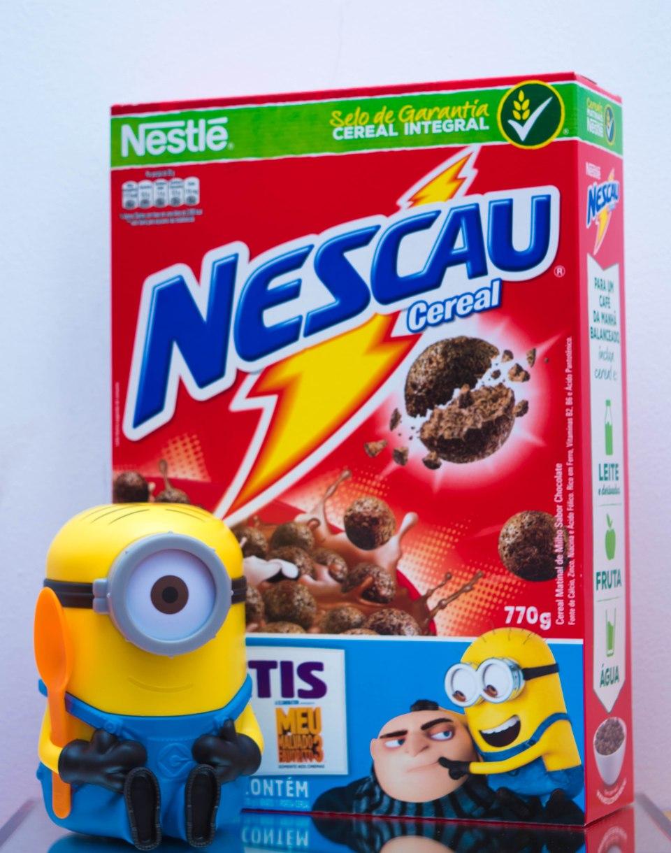 Necau Cereal Nestlé com Porta Cereais Minions by Cantinho da Tarsi